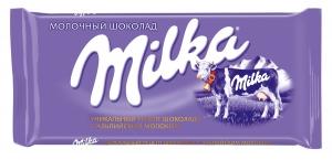"""Молочный шоколад """"Milka"""" 90 гр."""