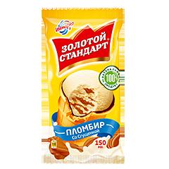 """Мороженое """"Золотой Стандарт"""" Стаканчик пломбир сгущённое молоко 80 г"""