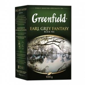 """Чай """"Greenfield"""" Эрл Грей Фэнтази чёрный лист.100гр."""
