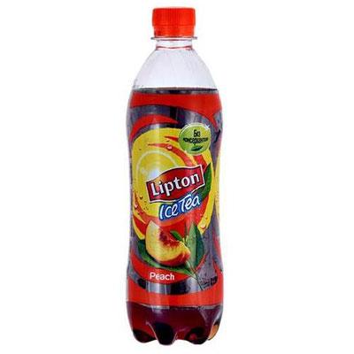 """Холодный чай """"Lipton Ice Tea"""" со вкусом персика (ПЭТ 0.6 л)"""