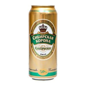 """Пиво """"Сибирская Корона"""" Классическое 5,0% (ж.б. 0,5 л)"""