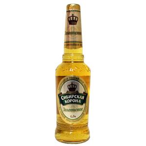 """Пиво """"Сибирская Корона"""" Золотистое 4,2% (бут. 0,5 л)"""