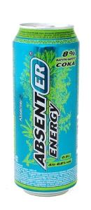 """Слабоалкогольный тонизирующий напиток """"Absenter Energy +"""" (Абсент) 7% (ж.б. 0,5 л)"""