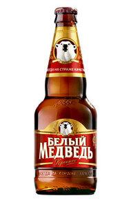 """Пиво """"Белый Медведь"""" Крепкое 8% (бут. 0,45 л)"""
