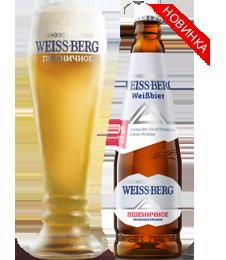 """Пиво светлое """"Вайс Берг пшеничное"""" нефильтрованное б/а 0,5л"""