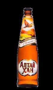 """Пиво """"Алтай-Хан легкое"""" светлое фильтрованное (Бочкари) 4,0% с/б 0,5 л"""