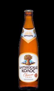 """Пиво """"Алтайский колос"""" (Бочкари) светлое фильтрованное с/б 4,2% 0,5 л."""