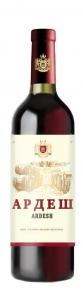 """Вино столовое сухое красное """"Ардеш"""" 12,5% 0,75 л."""