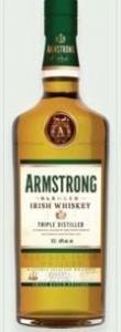 "Виски ирландский купажированный ""Армстронг"" 40% 0,5 л."