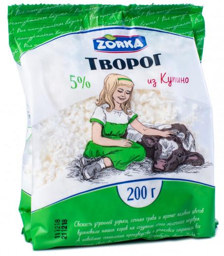 """Творог """"Купино"""" 5% 200 гр. пакет"""