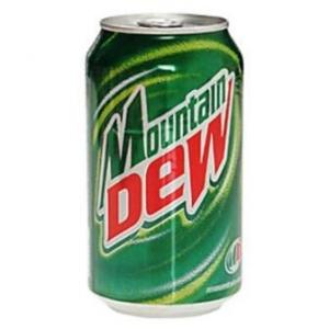 """Безалкогольный напиток """"Mountain Dew""""(Маунтин Дью) ж/б 0,33л"""