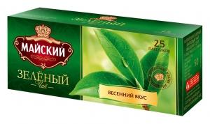 """Чай """"Майский"""" зеленый 25пак*2гр."""