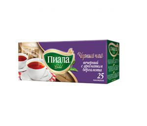 """Чай """"Пиала Голд"""" чёрный бергамот пак 25*2г"""
