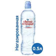 """Вода """"Святой источник Спорт"""" негазированная пэт 0,5 л."""
