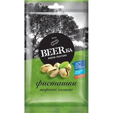 """Фисташки жареные соленые """"Beerka"""" 80гр."""