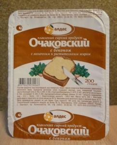"""Плавленый сырный продукт """"Очаковский"""" с беконом 180 г"""