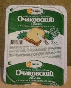 """Плавленый сырный продукт """"Очаковский"""" с грибами 180 г"""