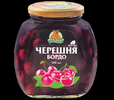"""Черешня Бордо """"Медведь Любимый"""" 580 мл"""