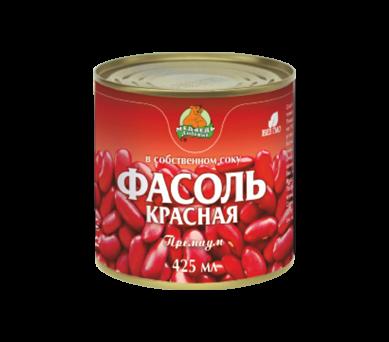 """Фасоль красная """"Медведь Любимый"""" премиум в томатном соусе 425 мл"""