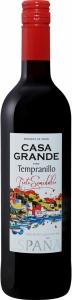 """Вино защищенного географического указания """"Каса Гранде Темпранильо"""" п/сл красное 11,5% 0,75 л. Испания"""