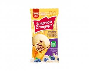 """Мороженое """"Золотой Стандарт"""" Стаканчик пломбир с черникой 95 г"""