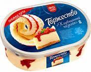 """Мороженое Инмарко """"Торжество"""" клубничный чизкейк 800 мл."""