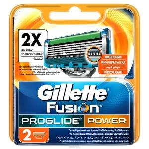 """Сменные кассеты """"Gillette fusion proglide"""" Джилет  2шт/уп"""