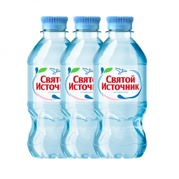 """Вода негазированная """"Святой источник""""  0,5л"""