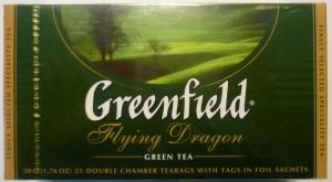"""Чай """"Greenfield"""" Flying Dragon зелёный в пакетиках 25 х 2 г"""