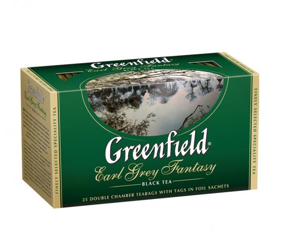 "Чай ""Greenfield"" Эрл Грей Фэнтази чёрный 25пак."