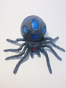 Антистресс  Паук черный большой резиновый