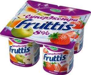"""Йогурт """"Campina Fruttis"""" Суперэкстра"""" 8% в ассортименте 115 г."""