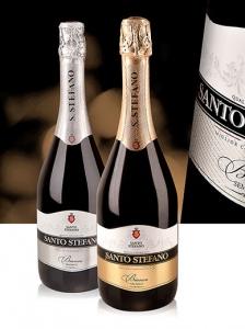 """Напиток винный """"Santo Stefano"""" белое полусладкое (Санто Стефано) 0,75 л"""