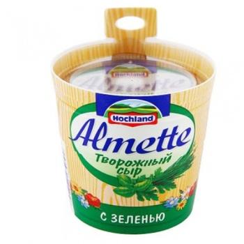 """Сыр творожный """"Almette"""" с зеленью (Альметте) 150 г"""