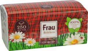 Frau Bokken двуслойные гигиенические бумажные салфетки 250 листов