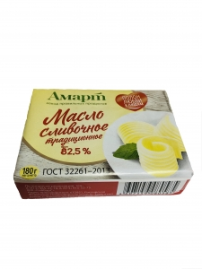 "Масло сливочное ""Традиционное"" (Техресурс) 82,5% 180 гр."