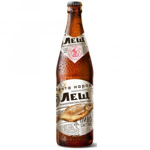 """Пиво """"Лещ"""" светлое фильтрованное 4,5% 0,5 л."""