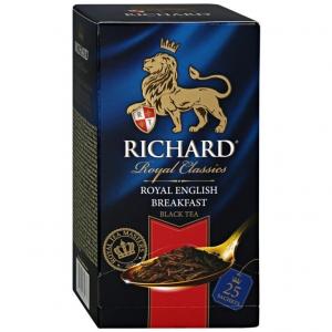 """Чай """"Richard"""" Queen's Breakfast чёрный в пакетиках 25*2г"""
