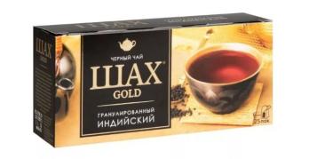 """Чай """"Шах голд"""" пак.черн.25пак."""
