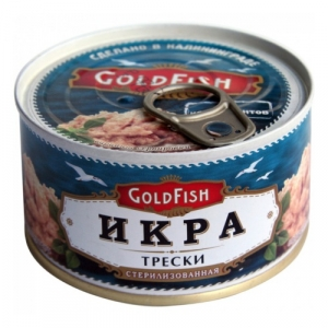 """Икра Трески """"GoldFish"""" 200 гр."""
