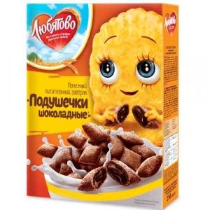 """Подушечки """"Любятово""""  шоколадные 250 г"""