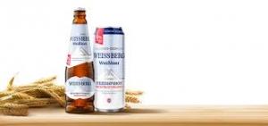 """Пиво светлое """"Вайс Берг пшеничное"""" нефильтрованное б/а 0,5л ж/б"""