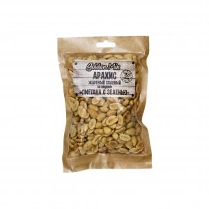 """Арахис жареный соленый со вкусом """"Сметана с зеленью"""" (Голдэн микс) 150 гр."""