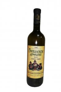 """Вино столовое """"Грузинское домашнее вино"""" белое п/сл 10,5-12,5% 0,75 л."""