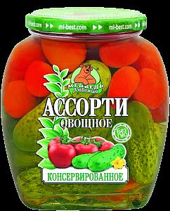 """Консервы """"Медведь любимый"""" Ассорти овощное 720 мл."""