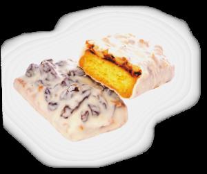 """Медовое пирожное """"Аладдин"""" с сухофруктами в белой глазури вес."""