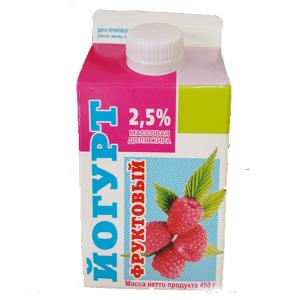 """Йогурт """"Ирмень"""" в ассортименте 2,5% 450 гр."""