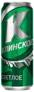 """Пиво """"Клинское"""" Светлое 4,5% (ж.б. 0,5 л)"""