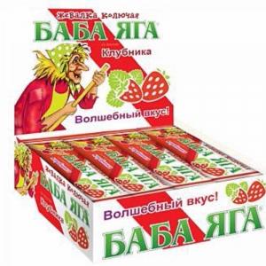 """Жевательная карамель """"Баба-яга"""" клубника 11 гр."""