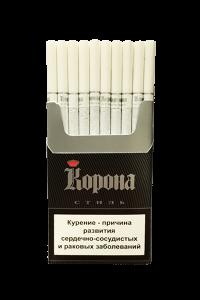 """Табачный набор сигареты с фильтром """"Корона стиль"""" и спички"""